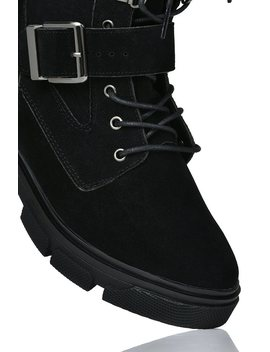 Black Faux Suede Chunky Desert Ankle Boots by I Saw It First