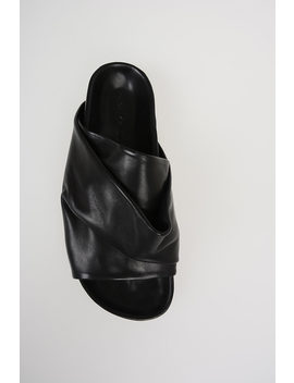 Leather Mobius Granola Slipper by Rick Owens