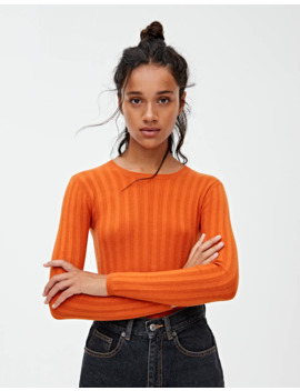 Jersey Cropped Canalé Calados by Pull & Bear