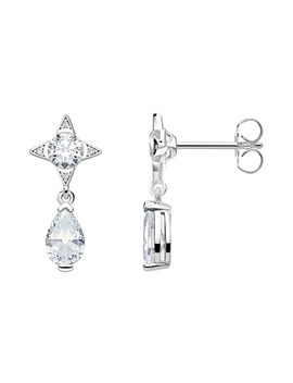 Ear Rings White Droplet by Thomas Sabo