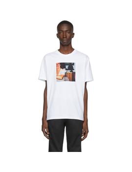 White Radio T Shirt by Affix