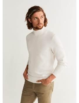 Strukturierter Pullover Mit Stehkragen by Mango