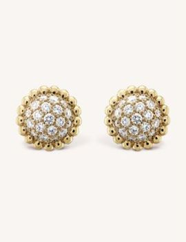 Perlée Diamants Gold And Diamond Earrings by Van Cleef & Arpels