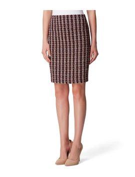 Metallic Tweed A Line Skirt by Tahari Asl