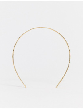 Design B London Gold Three Tiered Metal Headband by Design B