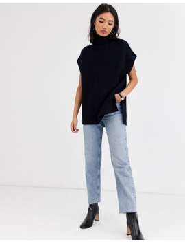 & Other Stories High Neck Sleeveless Sweater In Dark Navy by & Other Stories