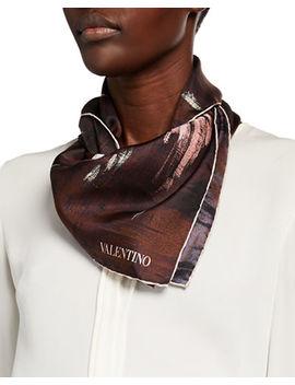 Valentino Painterly Foulard Silk Scarf by Valentino