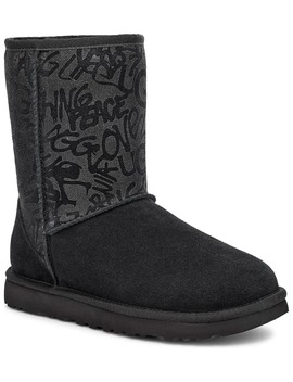 Classic Short Sparkle Graffiti Boot by Ugg