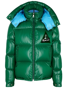 Wilson Green Quilted Shell Jacket by Moncler