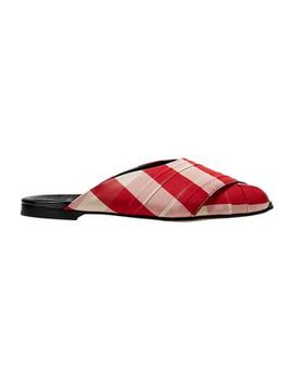 Pajama Gingham Canvas Slides by Trademark