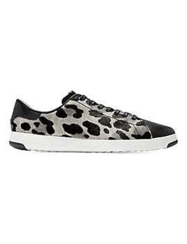 Grand Pro Leopard Print Calf Hair Leather Tennis Sneakers by Cole Haan