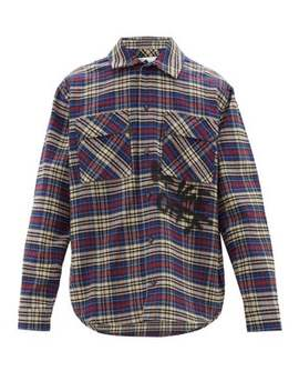 Checked Cotton Blend Flannel Shirt by Off White