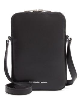 Logo Leather Shoulder Bag by Alexander Wang