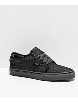 Vans Chukka Low Dark Grey Canvas &Amp; Pewter Skate Shoes by Vans