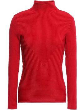 Appliquéd Ribbed Knit Turtleneck Sweater by Fusalp
