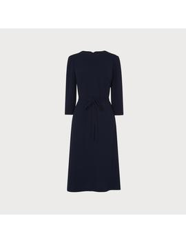 Iris Navy Crepe Dress by L.K.Bennett