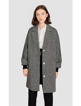 Woolly Fabric Coat by Stradivarius