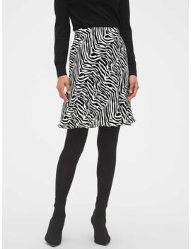 Zebra Print Slip Skirt by Banana Republic Factory
