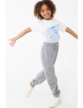 Girls Heathered Joggers (Kids) by Forever 21