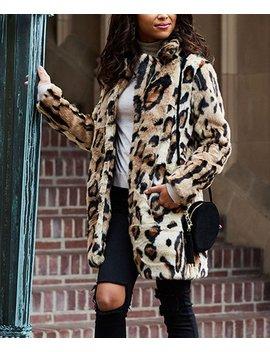 Leopard Faux Fur Jacket   Women &Amp; Plus by Jessica Simpson Collection