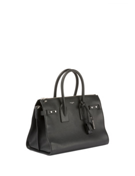 Sac De Jour Small Supple Leather Duffel Bag by Saint Laurent