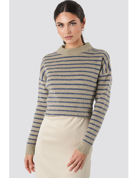 Striped Round Neck Knitted Sweater Multicolor by Na Kd
