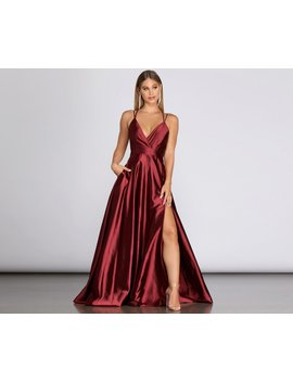 Priscilla Satin Evening Gown by Windsor