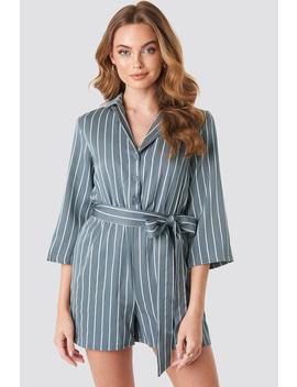 Striped Playsuit Blue by Na Kd