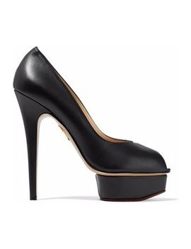 Daphne Pvc Trimmed Leather Platform Pumps by Charlotte Olympia