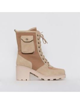 Charlie Camel Mesh Pocket Ankle Boots by Simmigirl