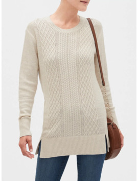 Mixed Cable Crew Neck Sweater by Banana Republic Factory