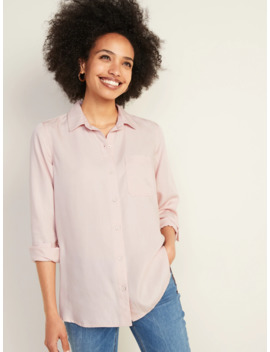 Relaxed Tencel® Shirt For Women by Old Navy