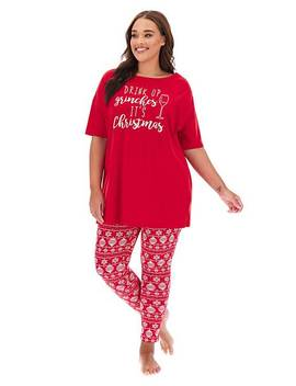 Pretty Secrets Christmas Legging Set by Simply Be