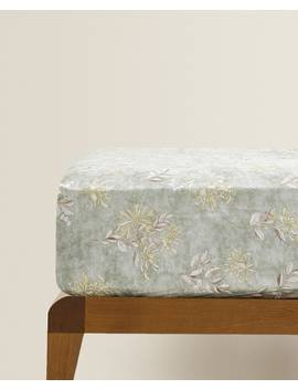 Floral Print Fitted Sheet  Fitted Sheets   Bed Linen   Bedroom by Zara Home