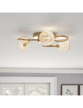 Sylvester 3 Light Semi Flush Mount by Rosdorf Park