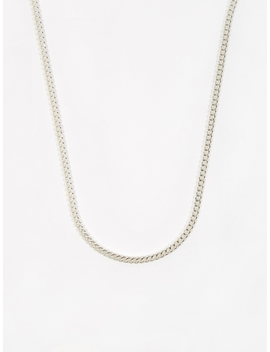 Curb Chain / Silver / 3.5mm Gauge / 50cm by Goods By Goodhood