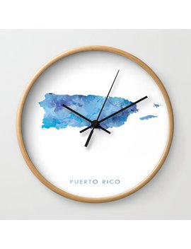 Puerto Rico Wall Clock by Society6