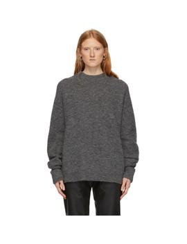 Grey Alpaca Airy Sweater by Tibi