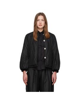 Reversible Black Mulberry Silk Jacket by Renli Su