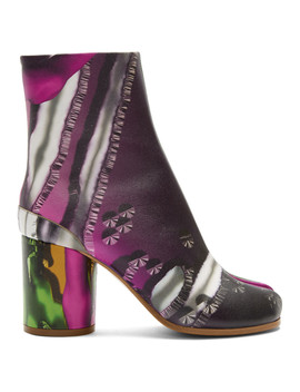 Green & Pink Graphic Tabi Boots by Maison Margiela