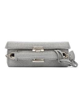 Silver Mini Grace Box Bag by Mark Cross