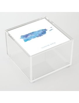 Puerto Rico Acrylic Box by Society6