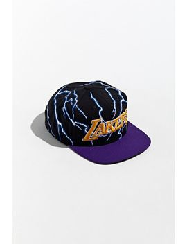 Mitchell & Ness Los Angeles Lakers Lightning Snapback Hat by Mitchell & Ness