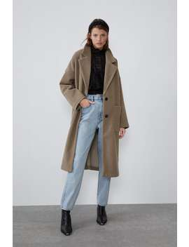 PŁaszcz Oversize Z Kieszeniami by Zara
