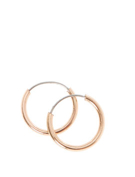 Rose Gold 10 Mm Hoop Earrings by Claire's