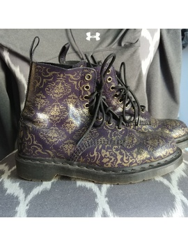 Dr Martens Baroque Pascal Boots Purple + Gold by Dr. Martens