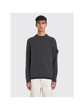 Stone Island Knitted Boucle Sweater Grey by Très Bien