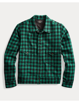 Plaid Wool Overshirt by Ralph Lauren