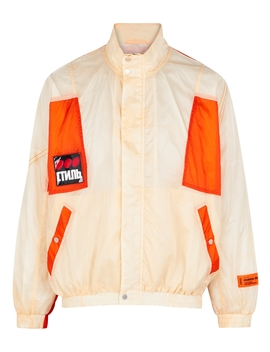 Parachute Cream Shell Windbreaker Jacket by Heron Preston
