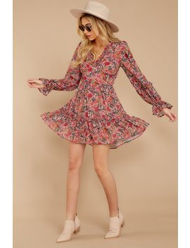 Never Forget You Mauve Pink Floral Print Dress by Flying Tomato